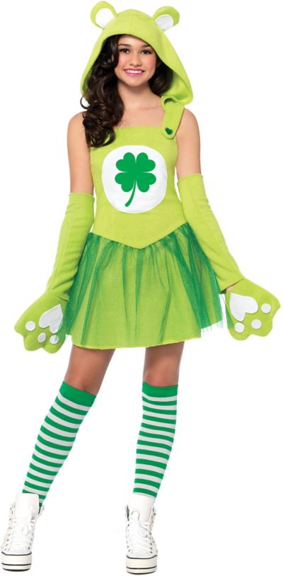 Teen Girls Good Luck Bear Costume - Care Bears