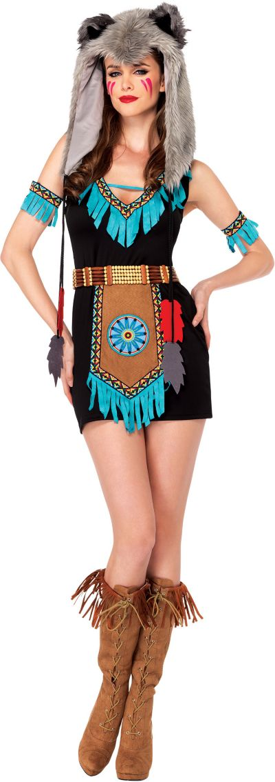 Adult Wolf Warrior Costume