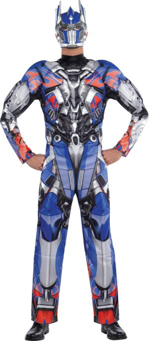 Adult Optimus Prime Muscle Costume - Transformers 4
