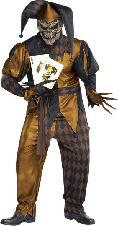 Adult Joker's Wild Skeleton Costume Plus Size