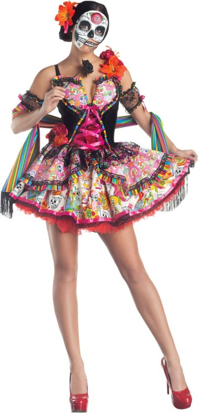 Adult Exuberante Day of the Dead Costume