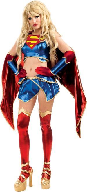 Adult Anime Supergirl Costume - Superman