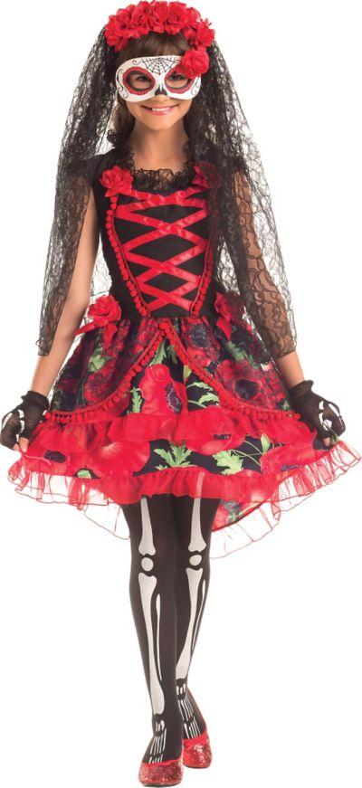 Girls Day of the Dead Senorita Costume