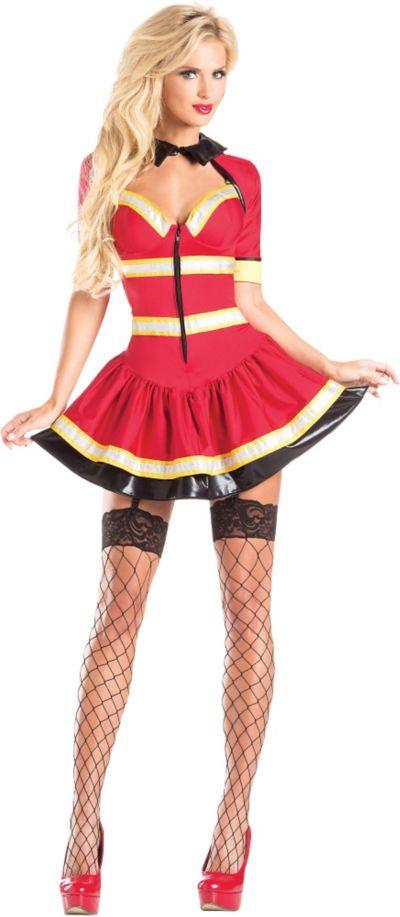 Adult Fireman Body Shaper Costume