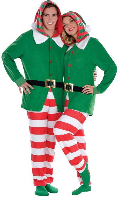 Adult Elf One Piece Pajamas
