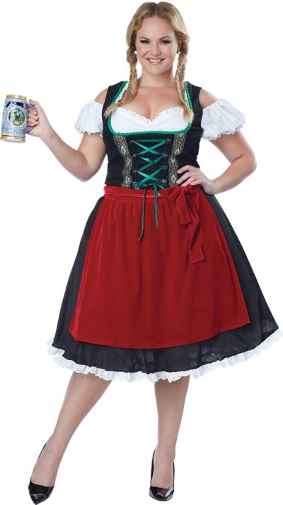 18ac0891980 Adult Oktoberfest Beer Wench Costume Plus Size