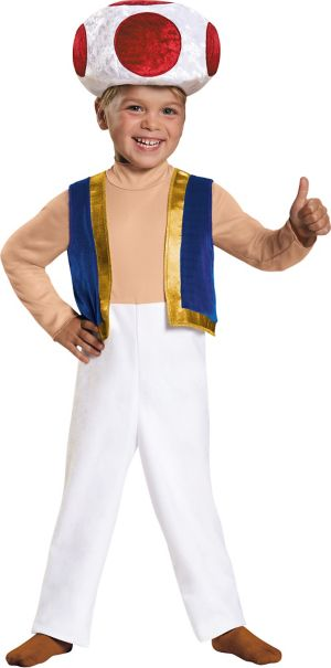 Toddler Boys Toad Costume - Super Mario Brothers