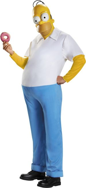 Adult Homer Simpson Costume Premium - The Simpsons