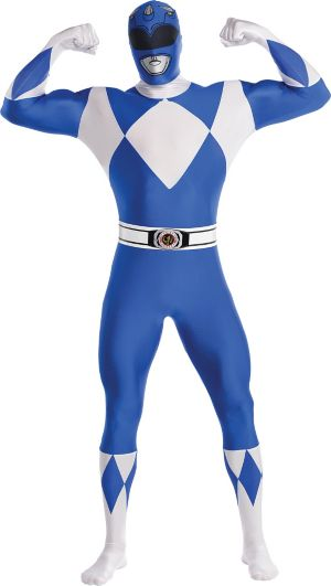 Adult Blue Power Ranger Partysuit - Mighty Morphin Power Rangers