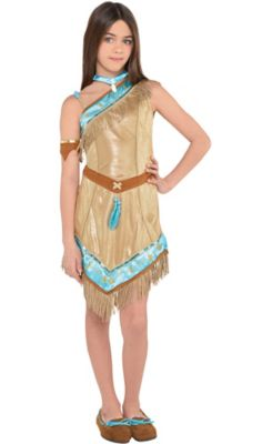 sc 1 st  Party City & Girls Pocahontas Costume | Party City