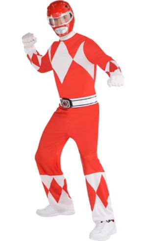 Adult Red Power Ranger Costume - Mighty Morphin Power Rangers - Party City