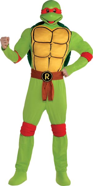 Adult Raphael Muscle Costume - Teenage Mutant Ninja Turtles