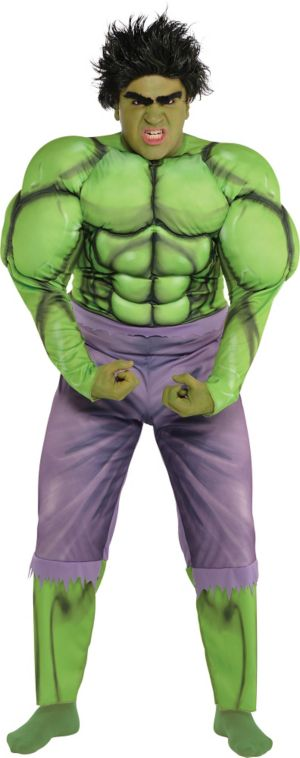 Adult Hulk Muscle Costume Plus Size