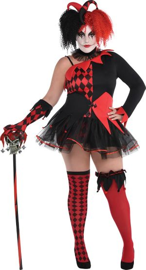 Adult Jesterina Costume Plus Size