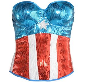Sequin American Dream Bustier