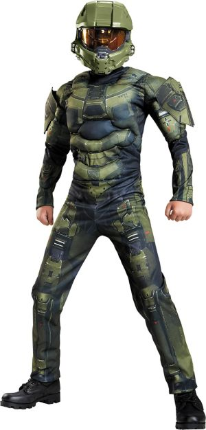 Boys Master Chief Muscle Costume Classic - Halo