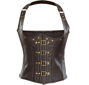 Brown Steampunk Underbust Corset