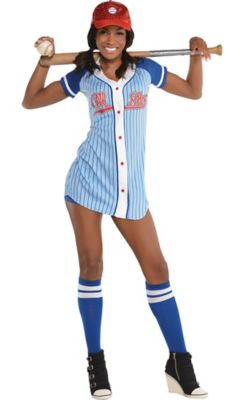 sc 1 st  Party City & Adult Baseball Babe Costume | Party City
