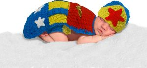 Baby Crochet Diaper Cover Wonder Woman Costume
