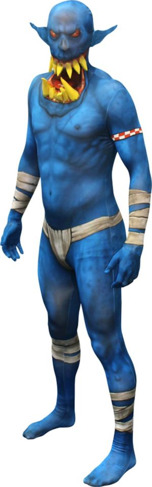 Adult Blue Jaw Dropper Orc Morphsuit