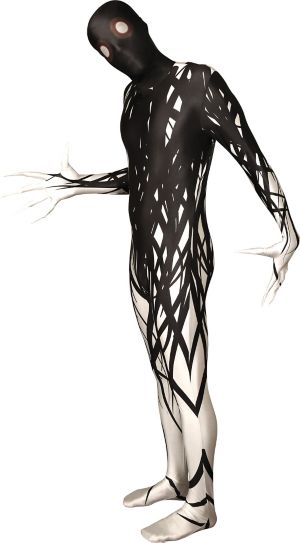 Adult Black & White Horror Zalgo Morphsuit