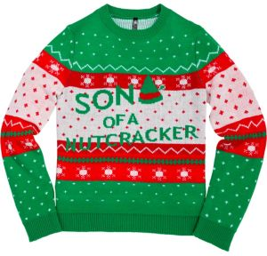 Son of a Nutcracker Ugly Christmas Sweater - Elf