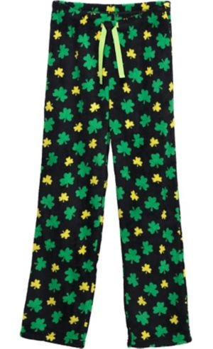 Black Shamrock Pajama Pants