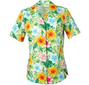 Green Hibiscus Hawaiian Shirt