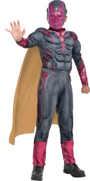 Boys Vision Muscle Costume - Captain America: Civil War