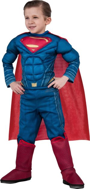Little Boys Superman Muscle Costume Deluxe - Batman v Superman: Dawn of Justice