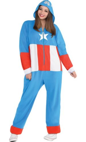 Adult Zipster American Dream One Piece Costume Plus Size