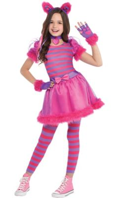 sc 1 st  Party City & Girls Cheshire Cat Costume | Party City