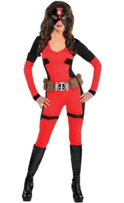sc 1 st  Party City & Adult Lady Deadpool Costume | Party City