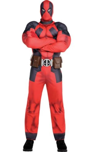 Adult Deadpool Muscle Costume