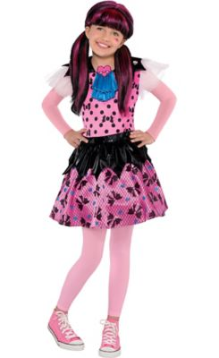 sc 1 st  Party City & Girls Draculaura Costume - Monster High | Party City