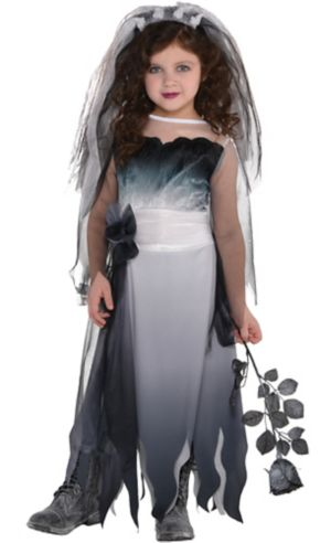 Little Girls Graveyard Bride Costume