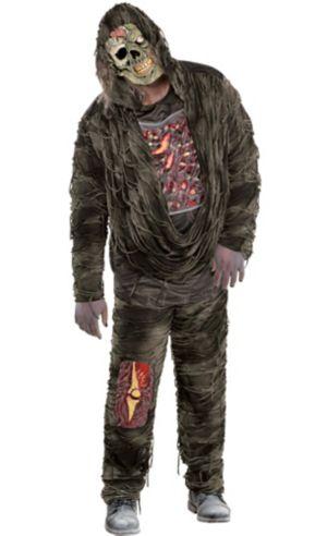 Adult Creepy Zombie Costume Plus Size