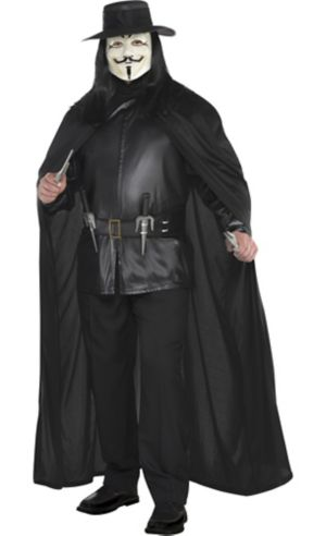 Adult V Costume Plus Size - V for Vendetta
