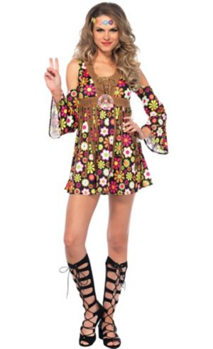Adult Starflower Hippie Costume