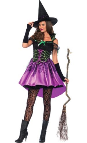 Adult Spider Web Witch Costume