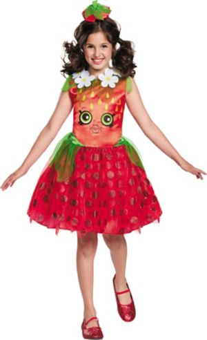 Girls Strawberry Kiss Costume - Shopkins