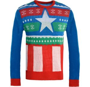 Captain America Ugly Christmas Sweater