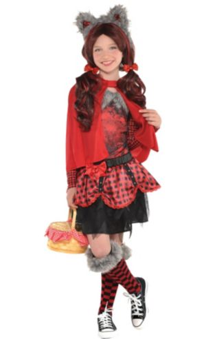 Girls Little Red Riding Hood Wolf Costume Premier