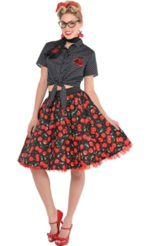 Adult Rockabilly Costume Deluxe