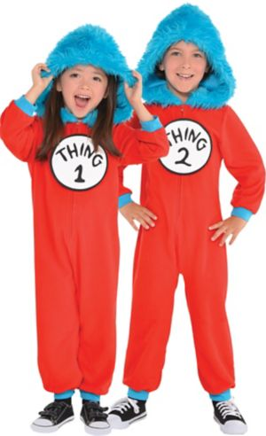 Toddler Thing 1 & Thing 2 One Piece Costume - Dr. Seuss