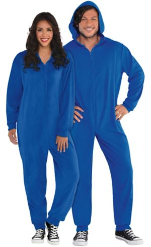 Adult Zipster Blue One Piece Costume