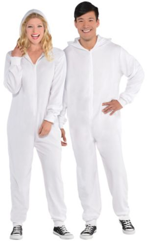 Adult Zipster White One Piece Costume
