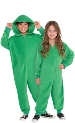 Child Zipster Green One Piece Costume