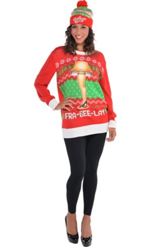 Adult A Christmas Story Ugly Christmas Sweater Costume