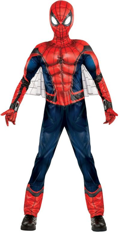 boys spiderman muscle costume spiderman homecoming party city